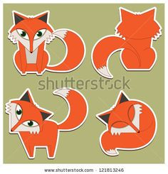 stock vector : vector fox