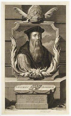 Thomas Cranmer, Archbishop of Canterbury by Pieter Stevens van Gunst line engraving, published 1707 © National Portrait Gallery, London