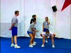 Beginning Cheerleading Stunts Cheer Camp, Cheer Coaches, Cheer Dance, Cool Cheer Stunts, Cheer Moves, Cheerleading Quotes, Cheerleading Stunting, Volleyball Cheers, Cheer Routines