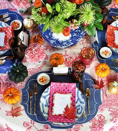 Thanksgiving Table: Furbish | Design Sponge | Pinterest Picks - A Colorful Thanksgiving Table