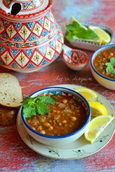 Moroccan harira (tomato and legume soup)