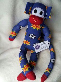 Sock monkey hand made from www.facebook.com/snugglysockimals