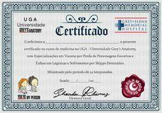Certificado Grey's Anatomy Trauma, Babies, Memes, Medicine, Greys Anatomy Episodes, Creative Painting Ideas, Photo Wall Collage, Certificate, Kawaii Drawings