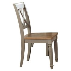 Pull this classic side chair up to your dining table or desk for a country-chic touch. Featuring turned front legs and a latticed back, this traditional desi...