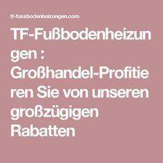 TF-Fußbodenheizungen : Großhandel-Profitieren Sie von unseren großzügigen Rabatten