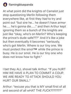 Merlin, the smol sorcerer house of the sleeping beauties - House Beautiful Merlin Memes, Merlin Funny, Merlin Merlin, Merlin Quotes, Sherlock Quotes, Fandoms, Merlin Fandom, Merlin And Arthur, Merlin