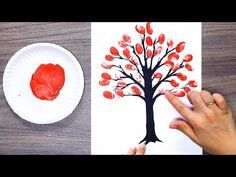 Watch 8 AWESOME DRAWING TRICKS FOR KIDS you will know how to draw a tree for kids easy way with cotton swabs, drawing flowers with a bottle or amazing blosso. Art Drawings For Kids, Drawing For Kids, Painting For Kids, Painting Tips, Drawing Tips, Easy Drawings, Art For Kids, Crafts For Kids, Trees For Kids