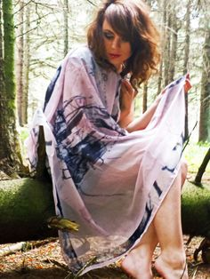 Handmade silk scarf, digitally printed. Designed by Corren Alyssa - www.facebook.com/correnalyssatextiles Handmade Design, Kimono Top, Cover Up, Silk, Printed, Facebook, Beach, Dresses, Women