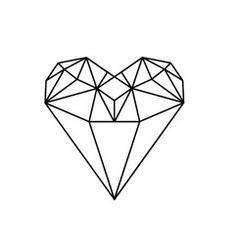 diamond heart tattoo - Google Search