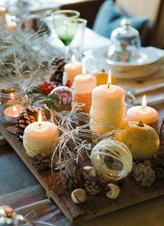 Weihnachtliche Tischdeko im skandinavischen Stil