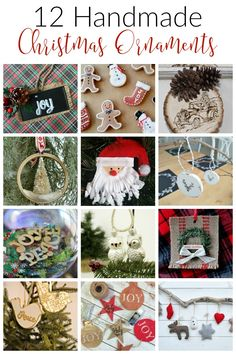 Day 8 of the 12 Days of Christmas Ideas - 12 DIY Handmade Christmas Ornaments to create for your holiday tree or gfits. #12DaysofChristmas