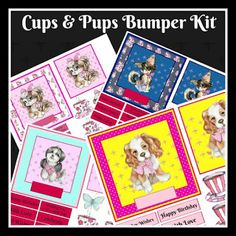 Kiwi Card House : Cups & Pups Decoupage Card Fronts Kit