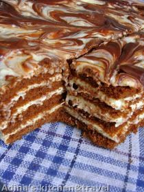 Adina's kitchen & travel: Prajitura cu foi pandispan,crema aromata si ciocolata Best Pastry Recipe, Pastry Recipes, Sweets Recipes, Coffee Recipes, Cake Recipes, Cooking Recipes, Dessert Drinks, Pie Dessert, Chocolat Recipe