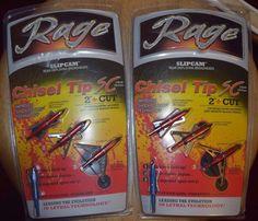 NEW 2 3-Packs Rage Chisel Tip 2-Blade SC Broadheads FREE SHIPPING!!!