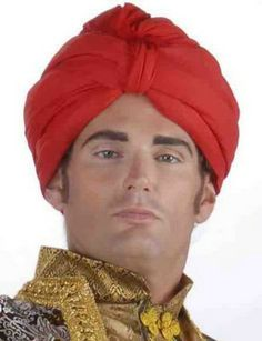 Deluxe Costume Turban Red