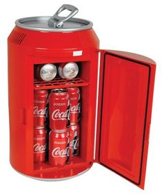 Keep plenty of beverages cool in this Coca-Cola Can Mini Fridge. Shaped and designed like a Coca-Cola can. Cool Kitchen Gadgets, Cool Kitchens, Fun Gadgets, Office Gadgets, Unique Gadgets, Cool Gadgets To Buy, Travel Gadgets, Tech Gadgets, Coca Cola Mini