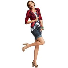 #CAbi Spring '13 Trend #1: Stripe Hype! It's true, we are a fan of stripes, but can you blame us?! Is there nothing more classic and chic than a simple red, white and cute ensemble with plenty of longevity to be a staple in your wardrobe for years to come!