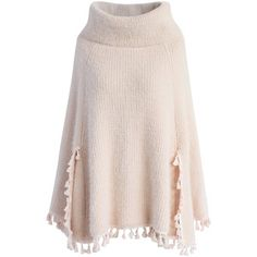 Chicwish Winter Tale Knitted Cape in Pink