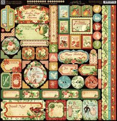 Cardstock Stickers from our new collection, The Twelve Days of Christmas! #graphic45 #christmas