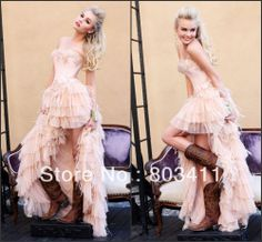 Dazzling Newest Pink Evening Party Gown with Ostrich Feathers High Low Short Front Long Back Prom Dresses 2014 .