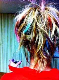 Hair Chalk. For crazy hair day at school... Check her hands out Must wear gloves!!!