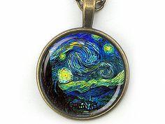 Cabochon Schmuck - MEISTERHAFT   Gemälde Van Gogh Cabochonkette Kette - ein Designerstück von Kleines-Karma bei DaWanda