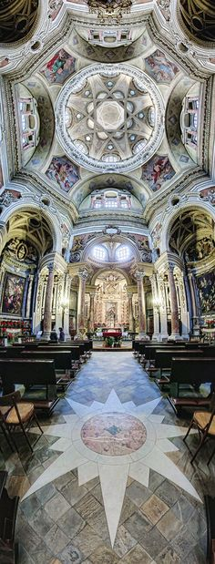 Awesome interior of St Peter Basilica in Vatican City