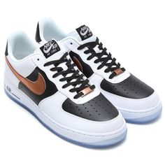 #Nike Air Force 1 - White/Copper-Black #sneakers