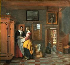 Dutch painting of interior