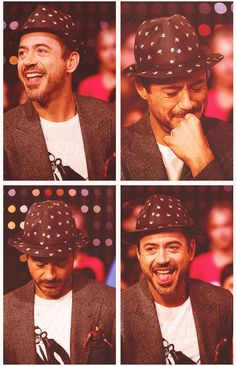 RDJ with a polka-dot hat and a little Iron Man in his pocket. You're welcome.