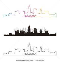 cleveland skyline outline - Google Search