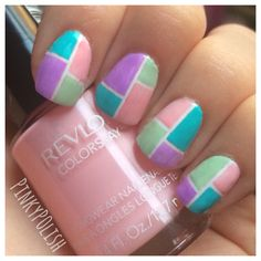 My Color Block Nails!