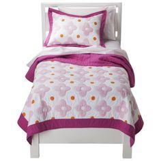 Circo® Flower Dot Quilt Set - Pink