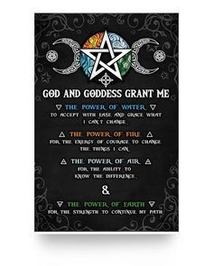 The Power Of Water Fire Air Earth Poster – WitchCraft 101