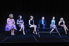 The stunning ladies of #DowntonAbbey at the TCA Summer Press Tour. ((photo: Rahoul Ghose/PBS)