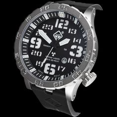 Hazard 4 Heavy Water Diver Black Dial White Graphics Dive Watch