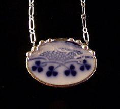 vintage plate necklace