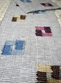 Купить Половик ручного ткачества(№37) - серый, половик, половичок, с рисунком, колодцы, Ткачество, тканый Quilts, Blanket, Quilt Sets, Blankets, Log Cabin Quilts, Cover, Comforters, Quilting, Quilt