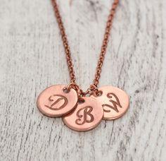 collana con 3 personalizzabili, con charm di AtelierMinnie su DaWanda.com