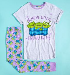 Disney Pajamas, Cute Pajamas, Pajamas Women, Lazy Day Outfits, Chill Outfits, Disney Gifts For Her, Toy Story Shirt, Toy Story Alien, Woman Movie