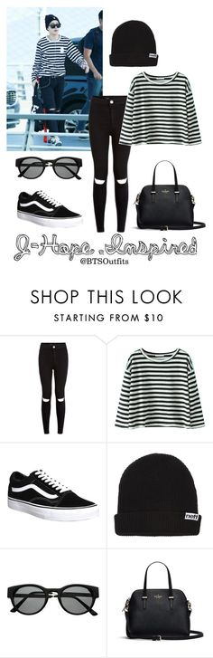 """""""J-Hope Inspired Outfit"""" by btsoutfits ❤ liked on Polyvore featuring New Look, Vans, Neff and Retrò"""