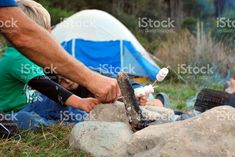 Home away from Home, Freedom Camping, Cooking Marshmallows on Campfire royalty-free stock photo Camping Meals, Camping Cooking, Photo Libre, Kiwiana, Outdoor Cooking, Home And Away, Image Now, Freedom, Royalty Free Stock Photos