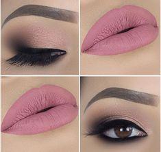 Dusty Rose Lipstick, Lipstick Shades, Pretty Makeup, Sexy Makeup, Perfect Makeup, Insta Makeup, Girls Makeup, Cute Makeup, Simple Makeup