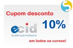 Cupom de 10% de desconto para qualquer curso do site ECID