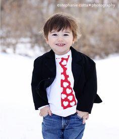Red Heart Valentines Day Tie Shirt / Onesie by ThisPretty on Etsy, $18.00