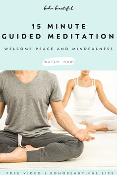 Chakra Meditation, Mindfulness Meditation, Physical Fitness, Yoga Fitness, Short Guided Meditation, Mindfulness For Beginners, Prenatal Yoga, Boho Beautiful, Improve Mental Health