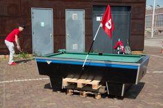 pool table hole #EUGC2016 #hitmhigh #urbangolf