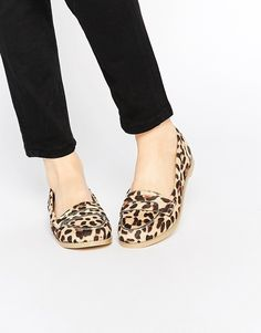 These sassy leopard print flats for $35.