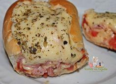 Pão Francês recheado com sabor de pizza