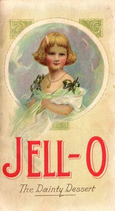 JELL-O The Dainty Dessert Cover of Recipe Booklet ~ Not Dated 1 of 3